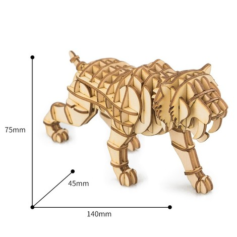 puzzle 3d tigre