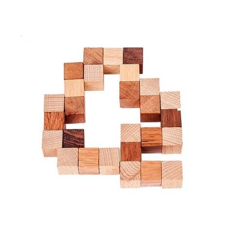 cube serpent en bois solution