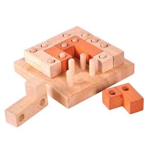 jeux en bois carré à trou