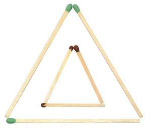 Triangle d'allumettes