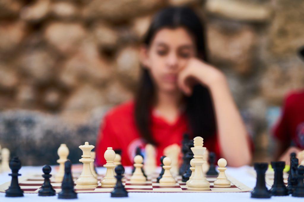 Joueuse d'échecs