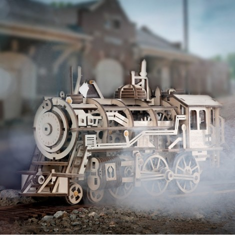 Locomotive en bois